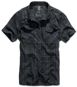 Brandit Roadstar Shirt, 1/2 sleeve black/blue M