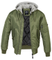 Preview: Brandit MA1 Sweat Hooded Jacket olive-grey 4XL