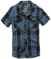 Mobile Preview: Brandit Roadstar Shirt, 1/2 sleeve indigo checked M