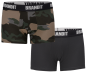 Preview: Brandit Boxershorts Logo 2er Pack darkcamo-black XXL