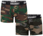 Preview: Brandit Boxershorts Logo 2er Pack woodland-darkcamo M