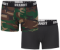 Preview: Brandit Boxershorts Logo 2er Pack woodland-black XL