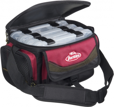 Berkley System Bag RedBlack + 4 Boxes