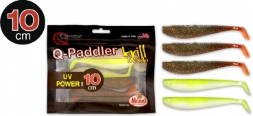 Quantum 10cm Q-Paddler Power Packs UV Power Mix 3x magic motoroil + 2x citrus shad Krill 5Stück