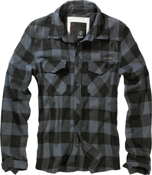 Brandit Checkshirt black/grey S