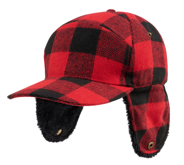 Brandit Lumberjack Wintercap red/black