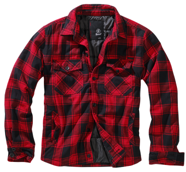 Brandit Lumberjacket red/black XL