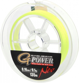 Gamakatsu G-Power Prem 135M Fluo-Yellow 0.18Mm