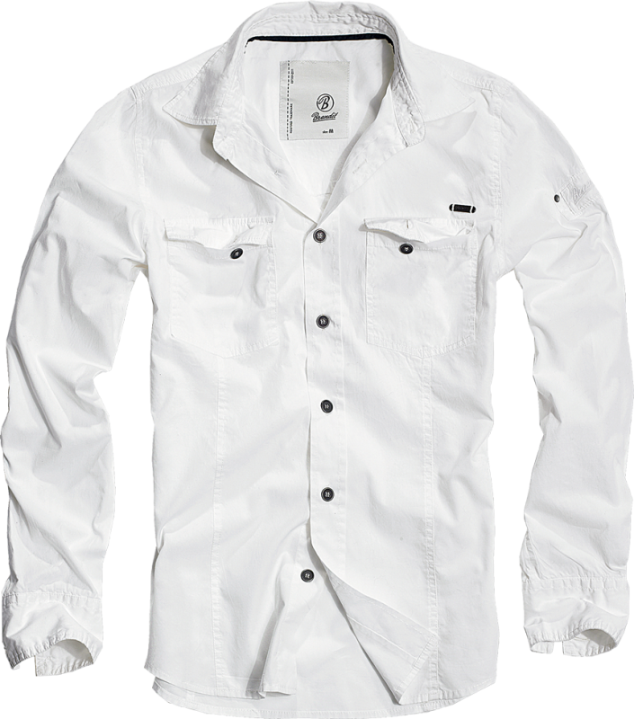Brandit Shirt slim MEN white S