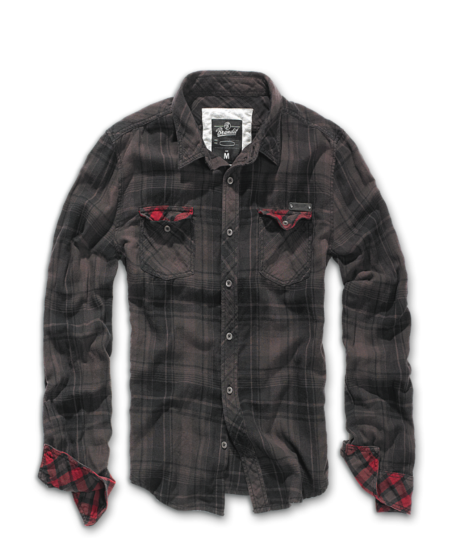 Brandit Checkshirt Duncan brown-black XL